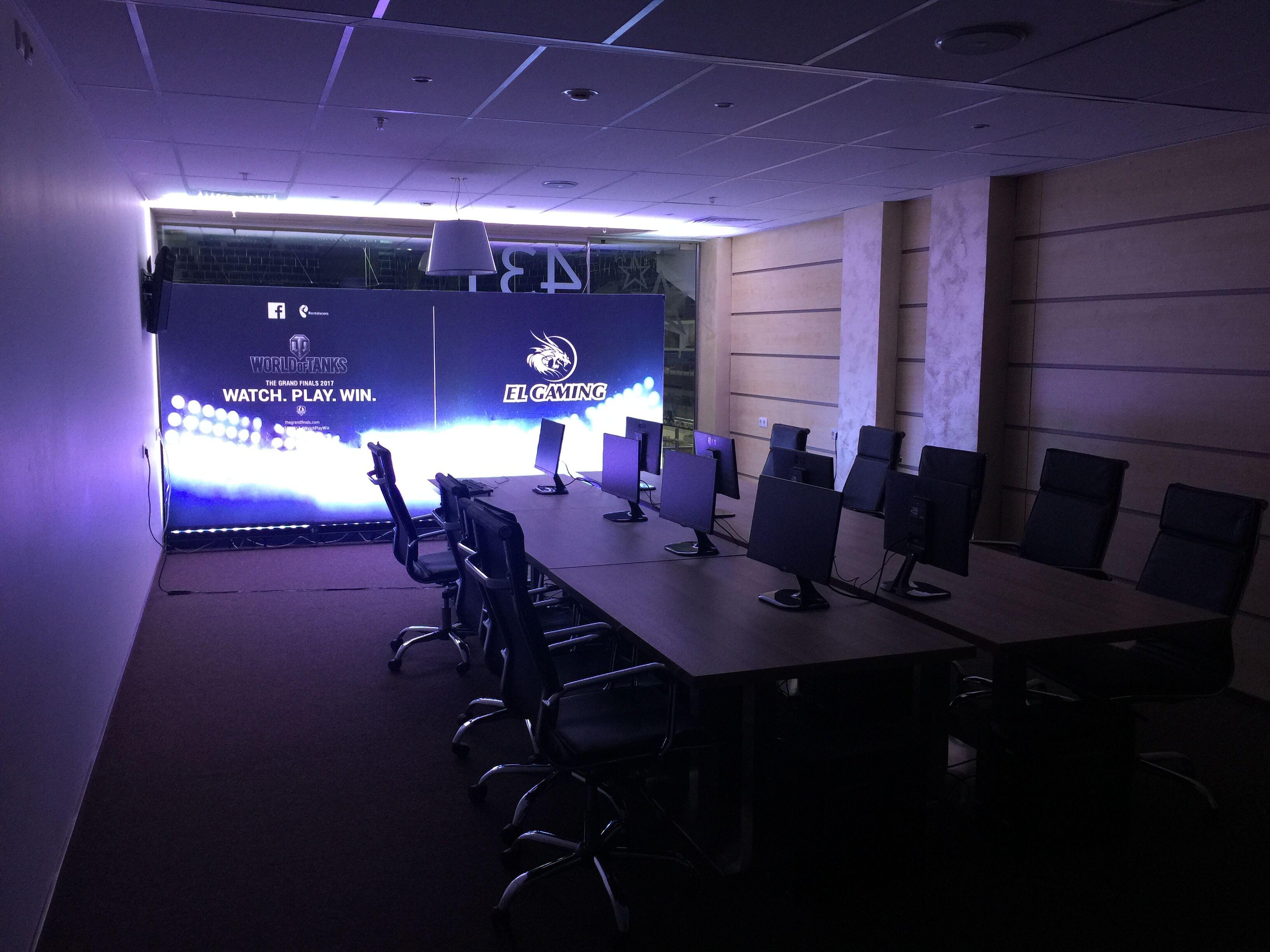 EL Gaming小组赛比赛室