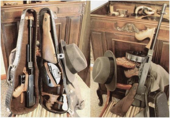 匿藏在小提琴内的M1927汤普森冲锋枪