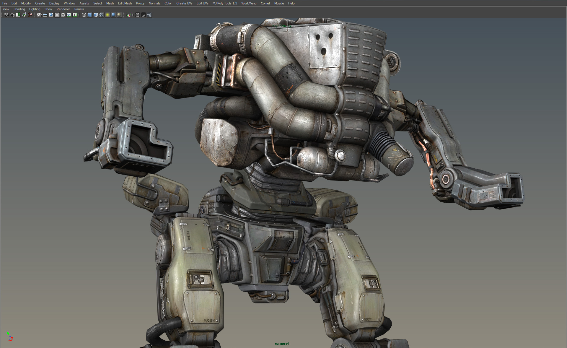 how to draw hard surface mech