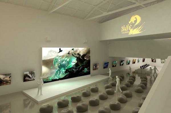 《激战2》国服首测品鉴会现场设计概念图