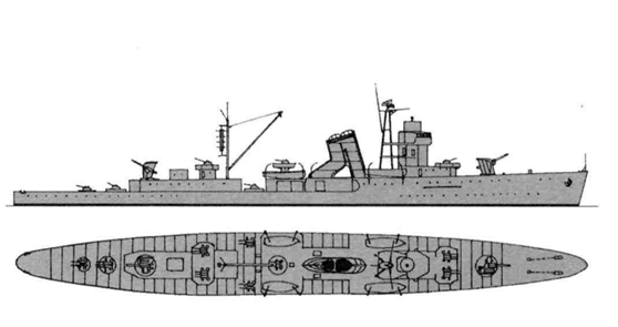 石川岛播磨 乘员:361人 注:有两架水上飞机 游戏中的宁海号巡洋舰