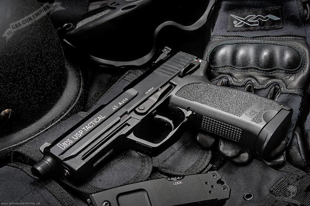 usp9战术手是有史以来具备hk产品中第一款使用9毫米径的战术手.