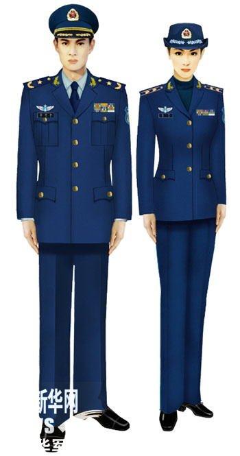07式军服空军-我军新式常服棉大衣配发部队 组图图片
