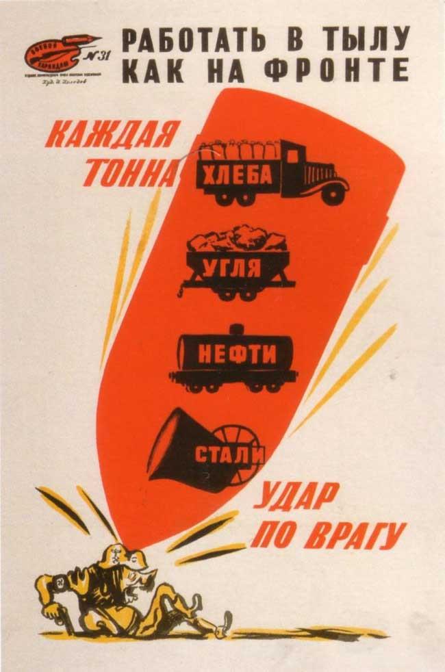 苏联四十年代宣传海报