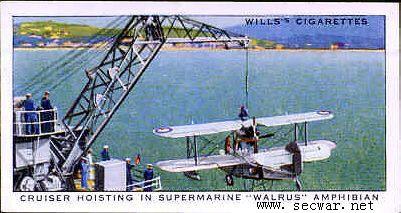 舰上的海象式水上飞机