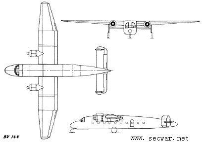 二战德国飞机--bv144