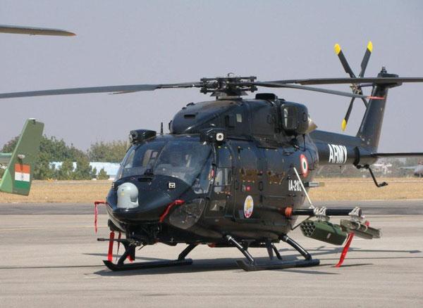 印度国产楼陀罗武装直升机凶猛亮相