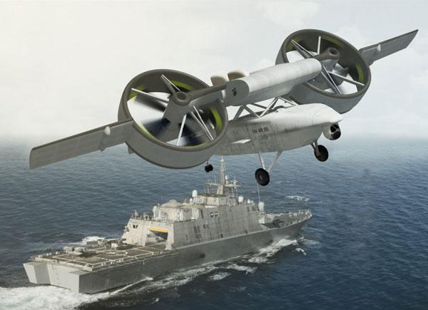 不怕IED 美国军工推出科幻飞行器