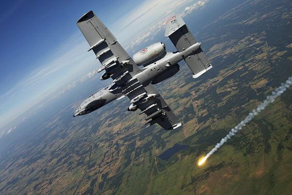 军事资讯_a-10攻击机近距离空中支援训练_空中网军事频道
