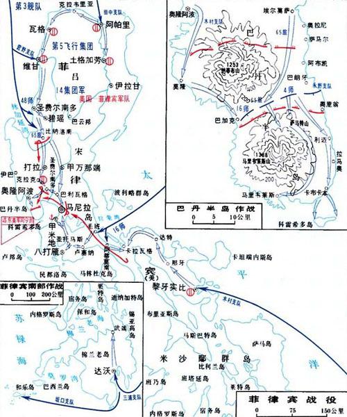 二战太平洋海战地图