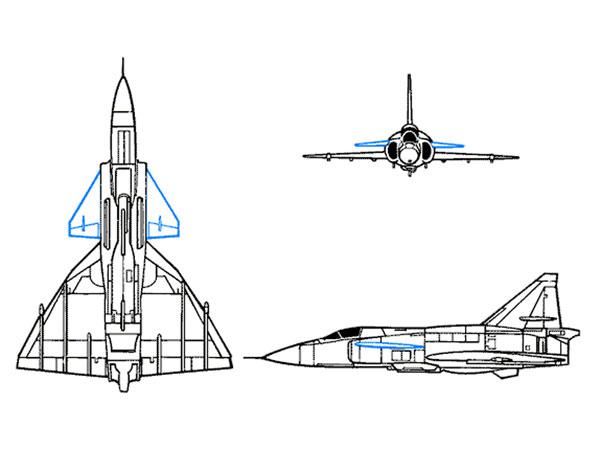 台风战机外形结构