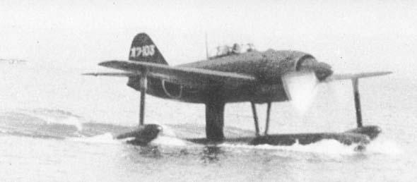 二战日本n1k1水上战斗机