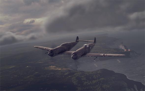 二战德国奇特梅塞施密特bf.109z双身战斗机