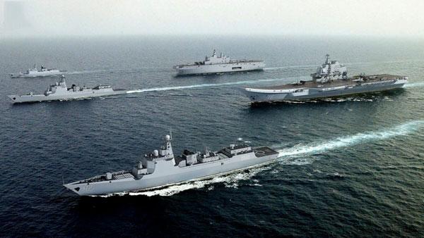 网友制的中国航母编队想象图