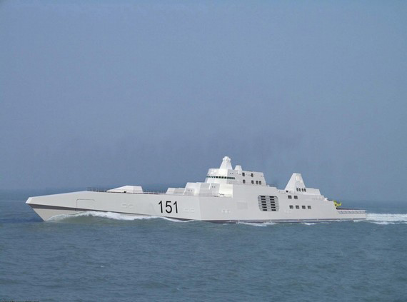 大胆级驱逐舰_网友大胆推测下一代055驱逐舰