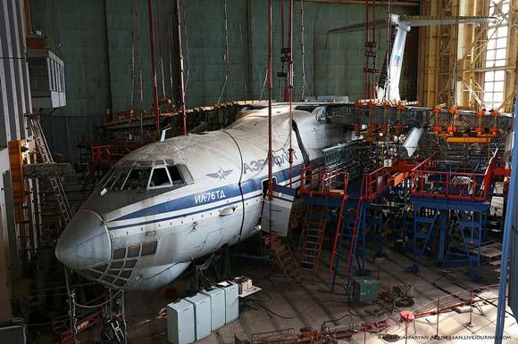 俄罗斯伊留申设计局飞机结构测试实验室曝光