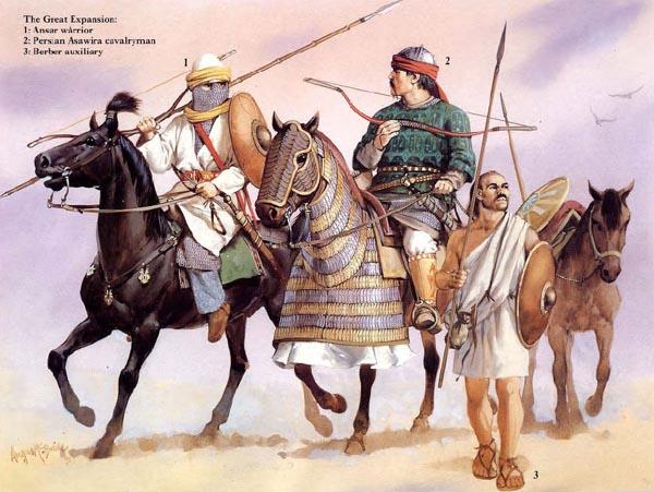 阿拉伯帝国的扩张 百年征服的领土横跨三大洲