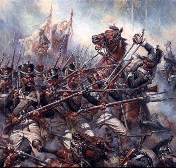 史海钩沉 老照片    为了抵御骑兵冲锋,各国步兵都熟练掌握着方阵阵形