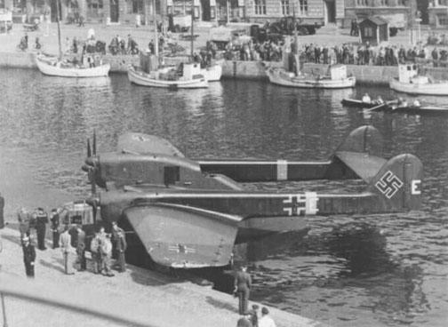 二战德国bv.138c远程水上飞机