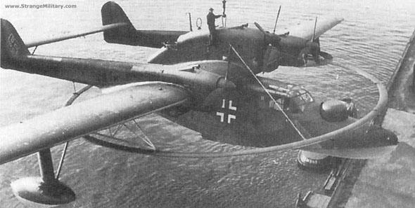 二战德国bv.138c远程水上飞机 庞大的水上怪物
