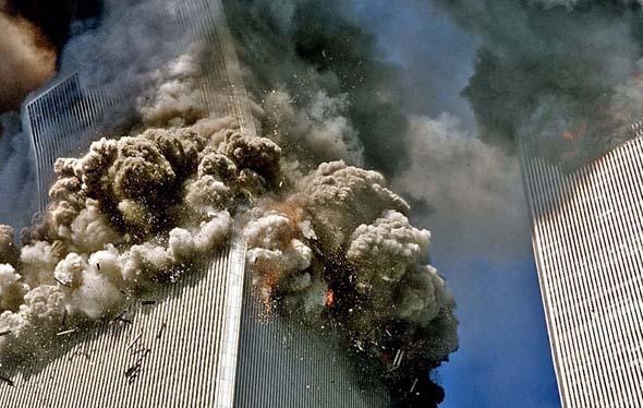 """世贸大厦倒塌原因_""""9·11事件""""现场老照片_空中网军事频道"""