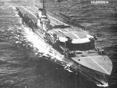 二战英国 光荣 级航母 战列舰的炮火牺牲品