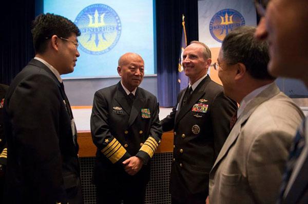 国海军司令赴美开会美海军作战部长热情招待图片