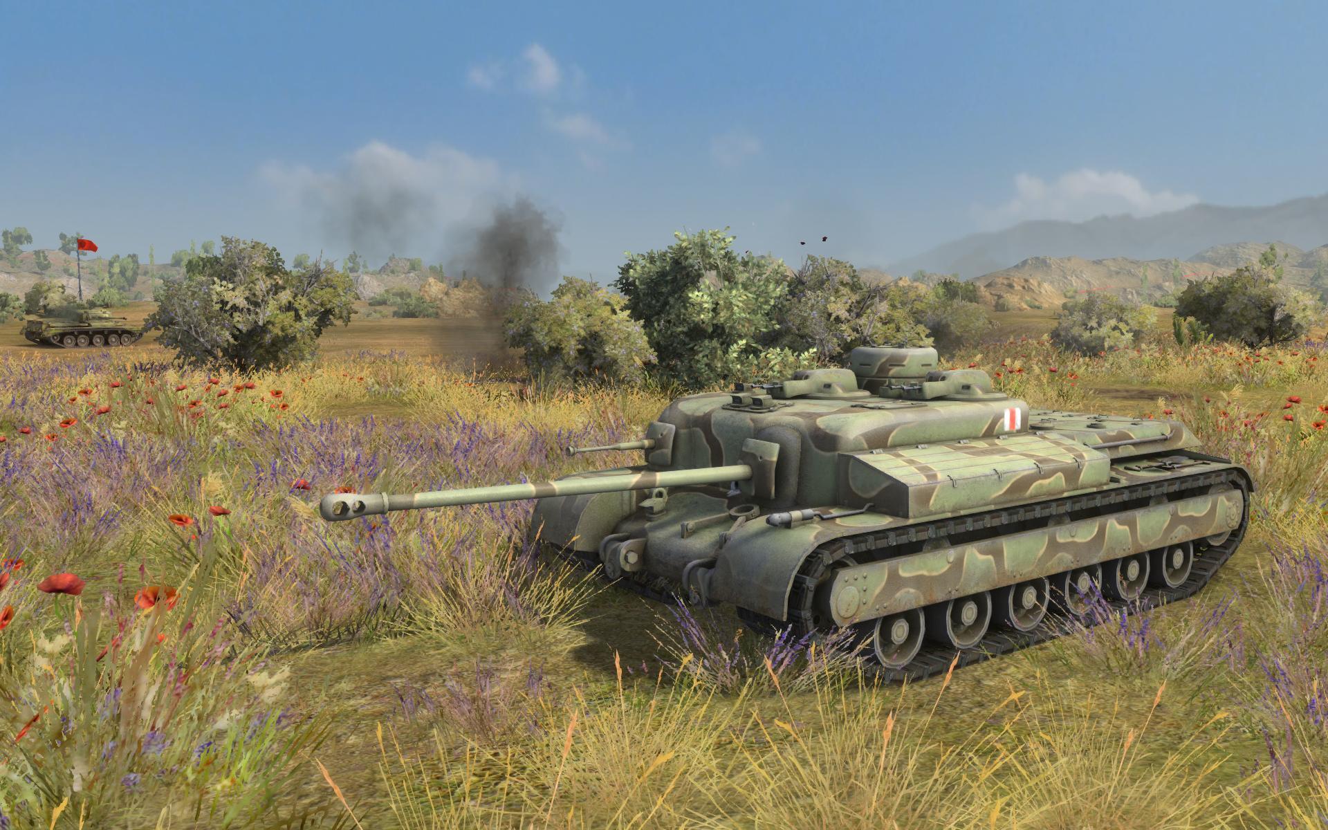 坦克世界》8.4全新截图 英德坦克大比拼