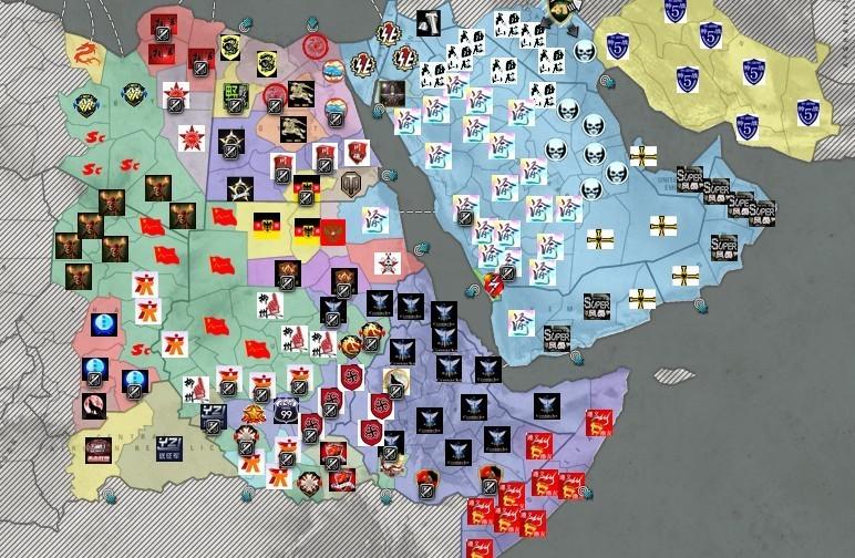 图13:阿拉伯半岛伊朗一带也是全无战事