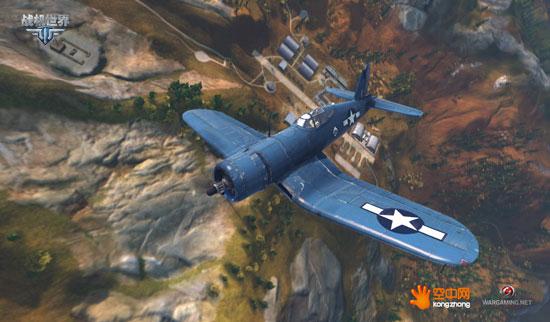 """""""海盗""""打飞机 《战机世界》 f4u战斗机"""