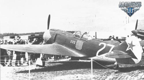 阔日杜布的La-7战机在莫斯科展示,机身绘有62次击落和3枚苏联英雄勋章
