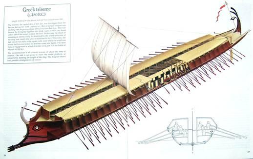 现代战船简笔画